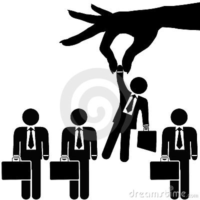Hand Picks Symbol Business Man from Businessmen