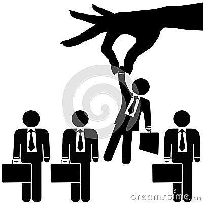 Hand Picks Symbol Business Man from Businessmen