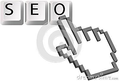 Hand pixel cursor SEO keys Search Engine Optimizat