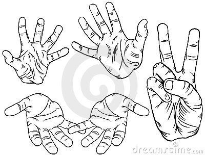Hand Poses Royalty Free Stock Photos - Image: 14256188