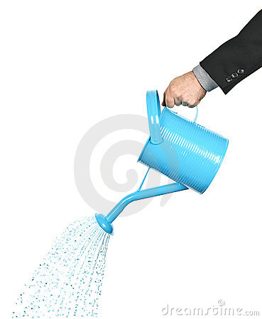 Free Hand Pouring Water From Watering Can Royalty Free Stock Photo - 15795585