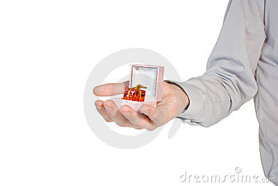 Hand with present