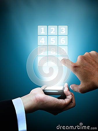 Hand press mobile phone