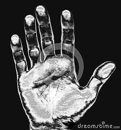Free Hand Print Stock Photography - 1025822
