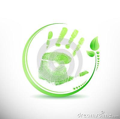Handprint stop sign illustration design stock photos - Traffic planning and design layoffs ...