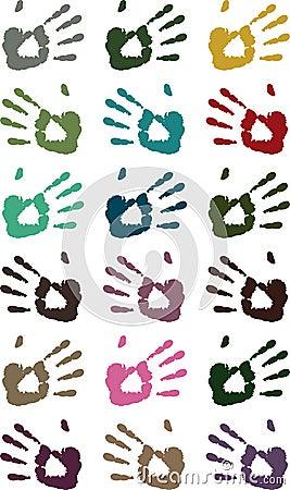 Hand print pattern