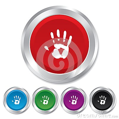 Free Hand Print Sign Icon. Stop Symbol. Stock Photos - 36469533