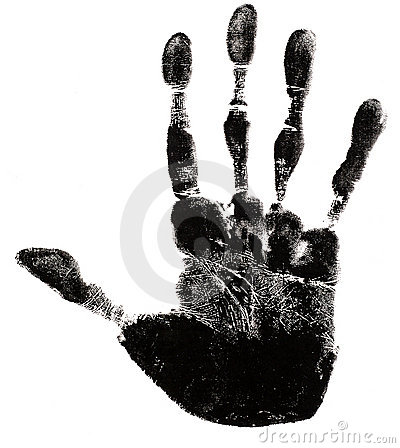 Free Hand Print Silhouette Stock Photo - 3463890