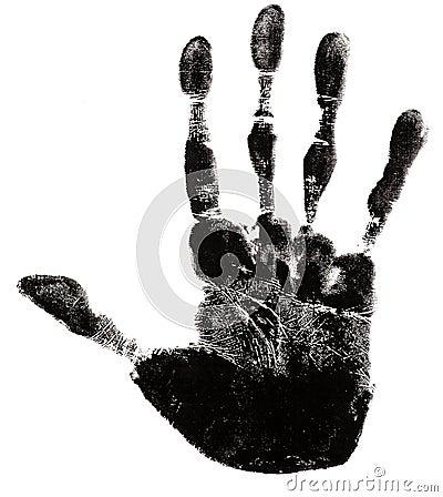 Hand Print Silhouette
