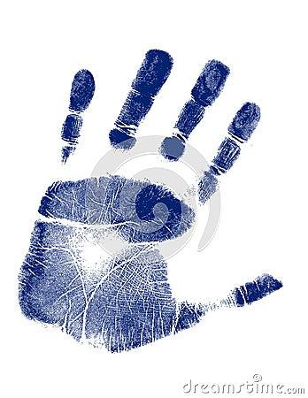 Hand print / Vector