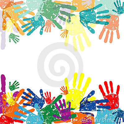 Free Hand Prints Background Stock Photography - 17158612