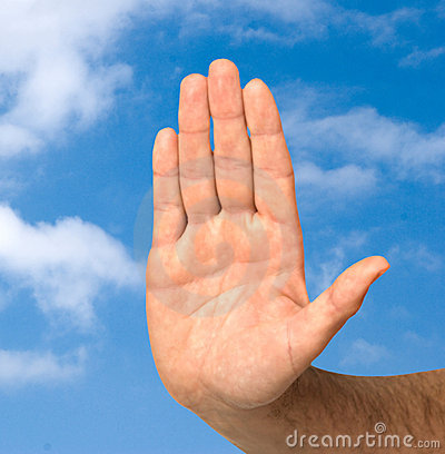 Hand protecting clean sky