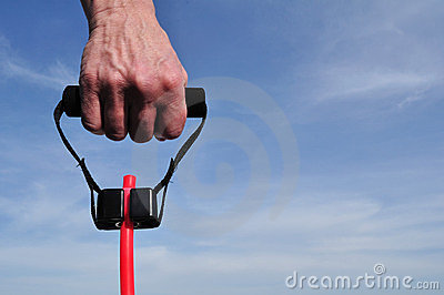 Hand Pulling a Resistance Band