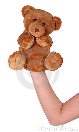 Hand puppet of bear