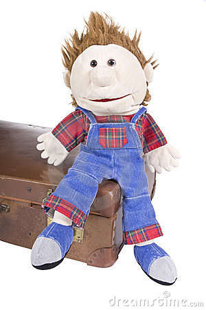 Free Hand Puppet With Suitcase Stock Photo - 24165050