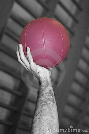 Hand and Purple Ball