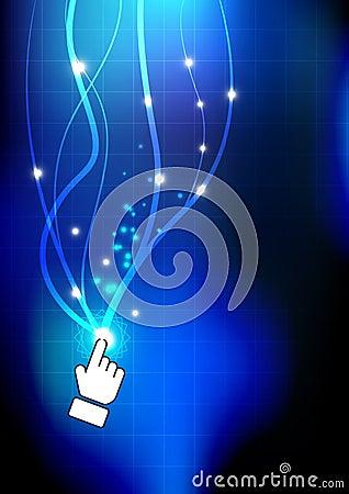 Hand push magic button
