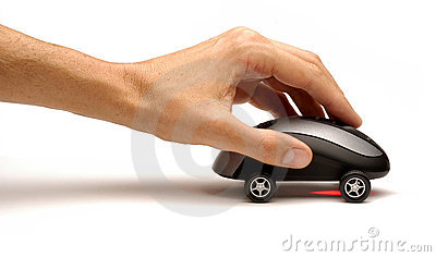 Hand Pushing Computer Mouse