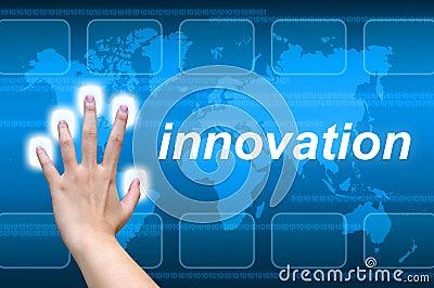 Hand pushing innovation