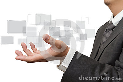Hand pushing on touch screen