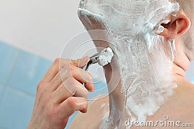 Hand with razor