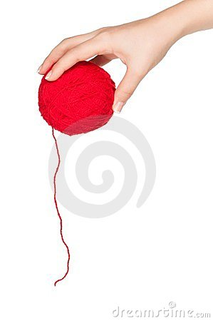 Hand with red ball