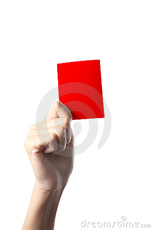 Hand red card