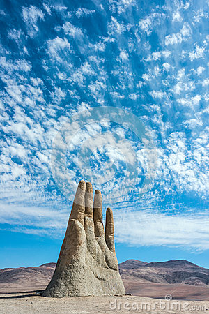 Free Hand Sculpture, The Symbol Of Atacama Desert Royalty Free Stock Photos - 53108998