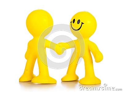 Hand shake.