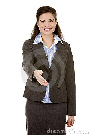 Hand shake from business woman