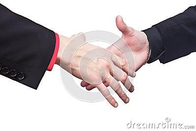 Hand shake businessmans