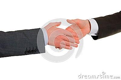 Hand shake of businessmen