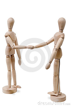 Free Hand Shake Figures Royalty Free Stock Photo - 2811285