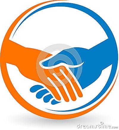Free Hand Shake Logo Royalty Free Stock Image - 33467866
