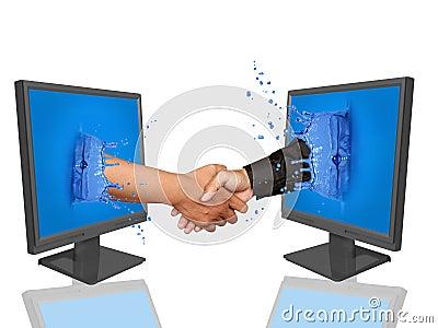 Hand shake- online deal