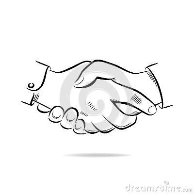 Hand Shake Vector Sketch Stock Images - Image: 35168124