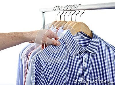 Hand shirt choose