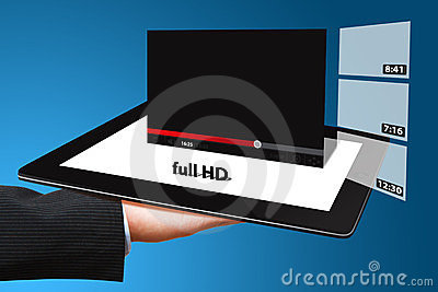 Hand show windows VDO download on tablet pc