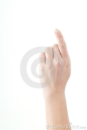 Hand showing attention sign