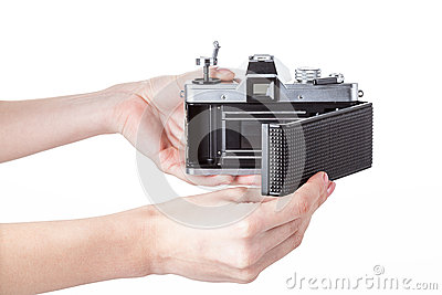 A hand showing camera inside