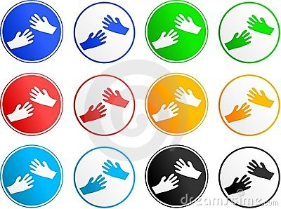 Hand sign icons