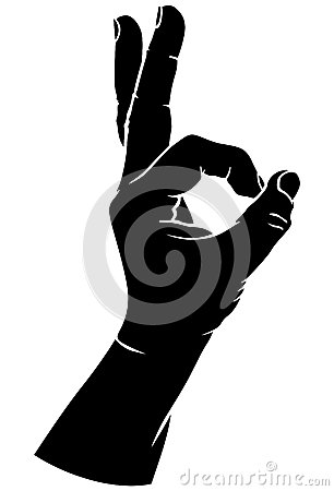 Hand In The Sign Of Ok Stock Vector - Image: 44948211