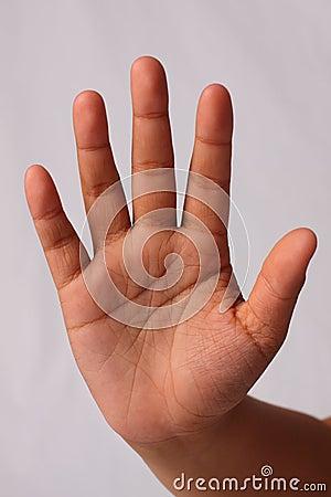 Hand sign stop break slow