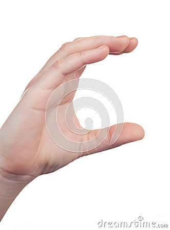 Hand sign symbol