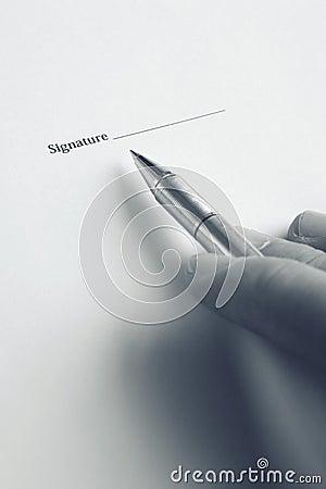 Hand signature