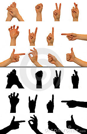 Free Hand Signs Stock Photography - 12768532