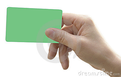 Hand with smart card