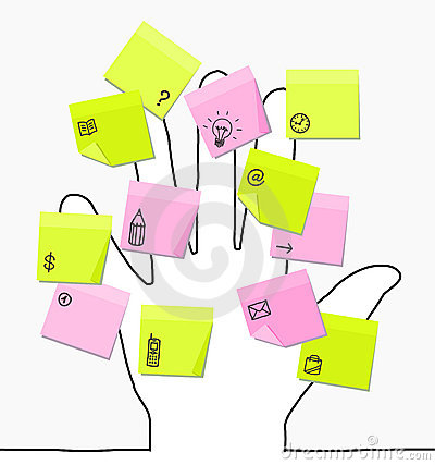 Free Hand & Sticky Notes Stock Image - 10014141