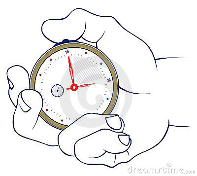 Hand and stopwatch