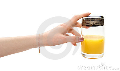 Hand stretching to juice